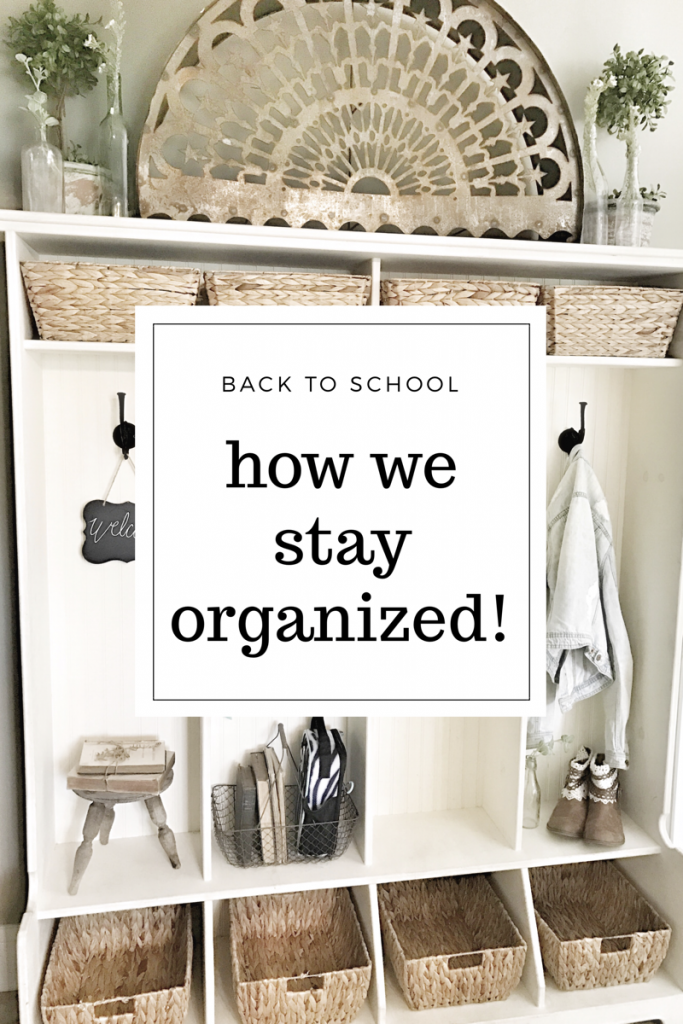 how we stay organized