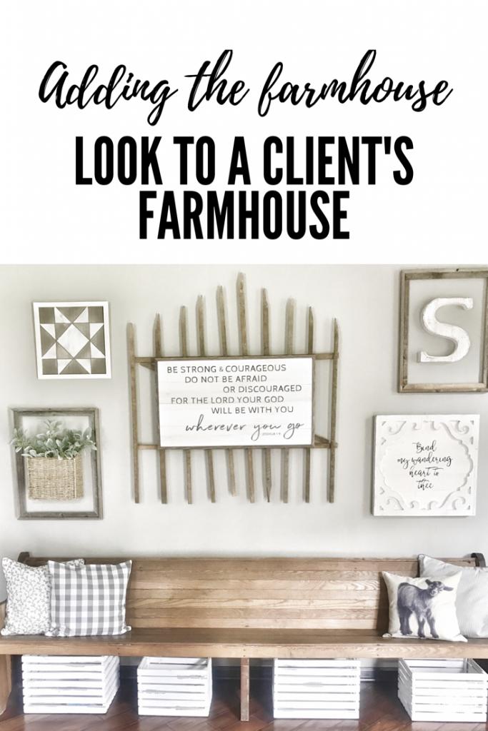 adding the farmhouse look to a client's farmhouse
