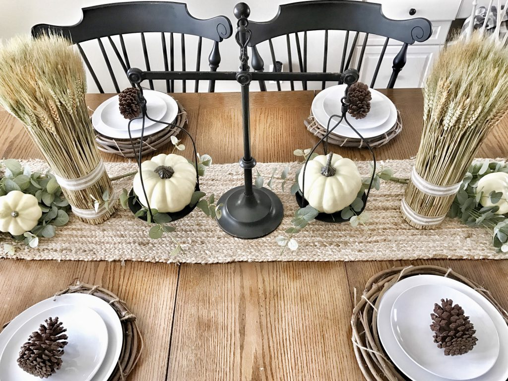 farmhouse kitchen fall centerpiece