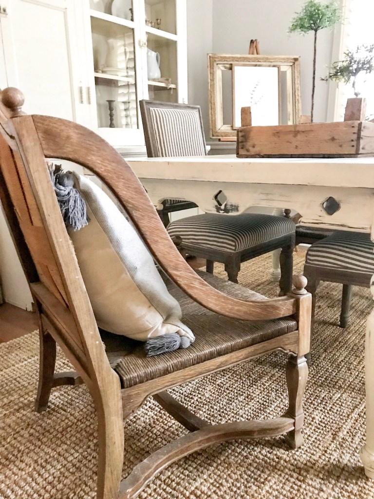 flea market find antique chair