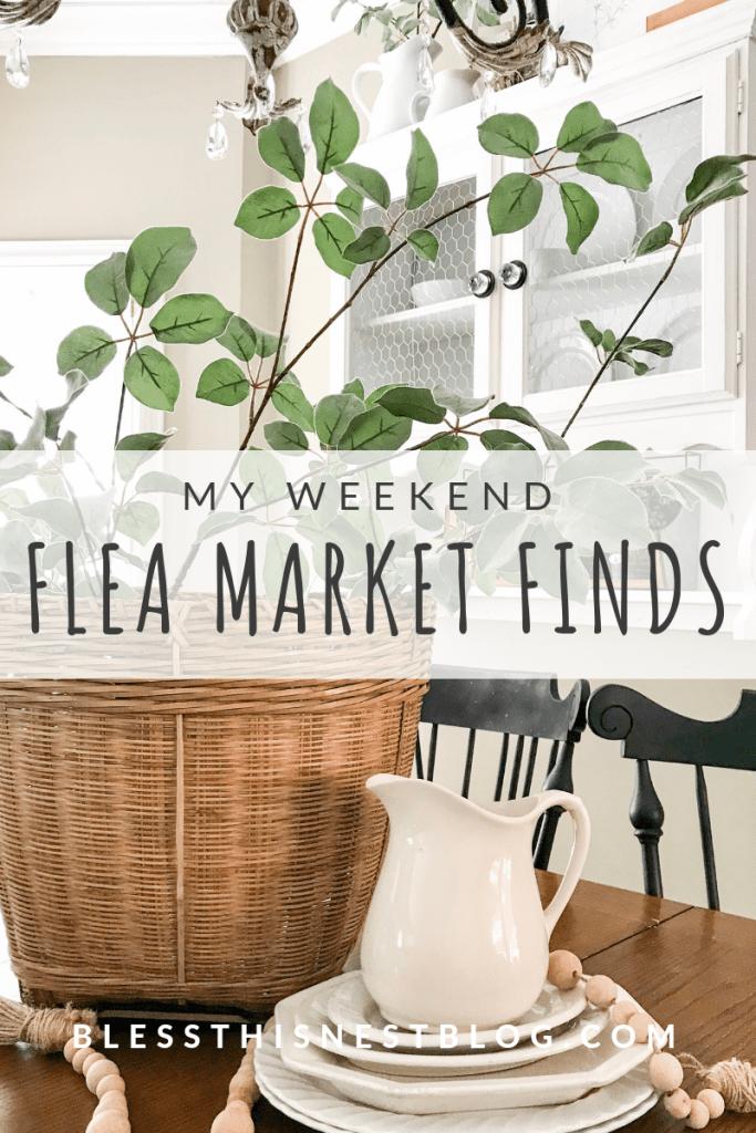 my weekend flea market finds