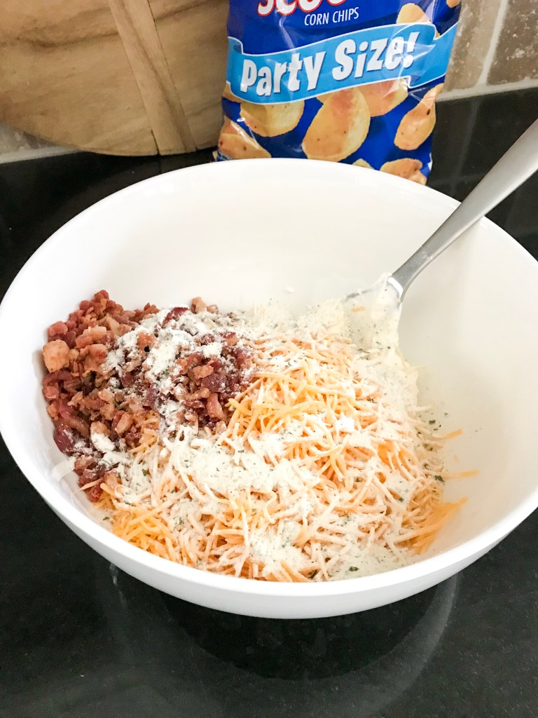 mixed cheese bacon bits sour cream and ranch pack