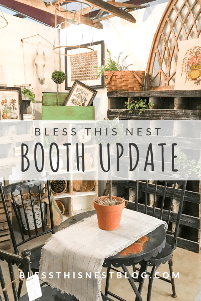 bless this nest antique booth update