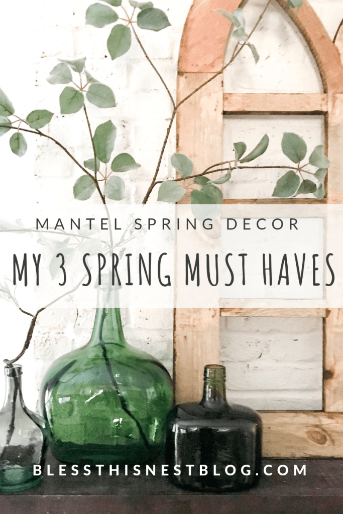 mantel decor for spring