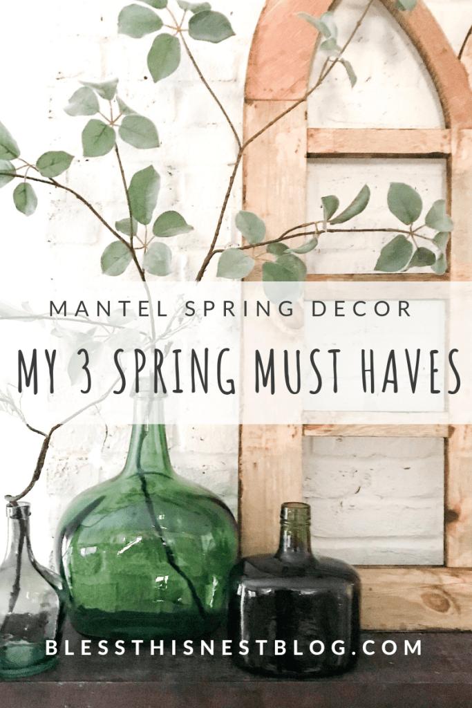 mantel spring decor must haves