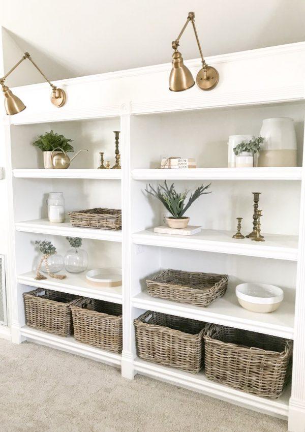 How I Added Lights To My Built-In Bookshelves