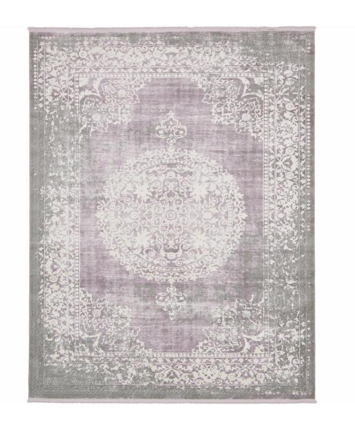 purple and grey rug