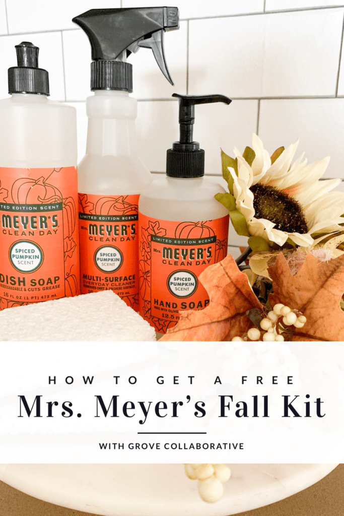 how to get a free mrs meyer's fall kit