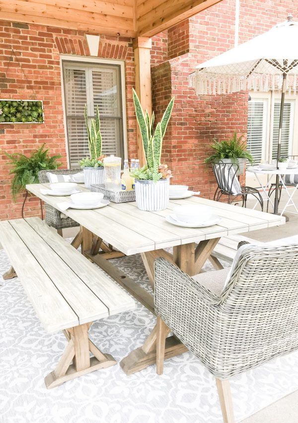 My Outdoor Eating Area Reveal