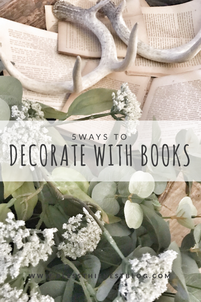 decorating with old books 5 ways to decorate with books