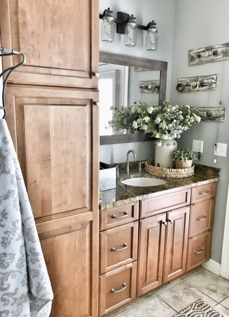 master bathroom reveal vanity and cabinet