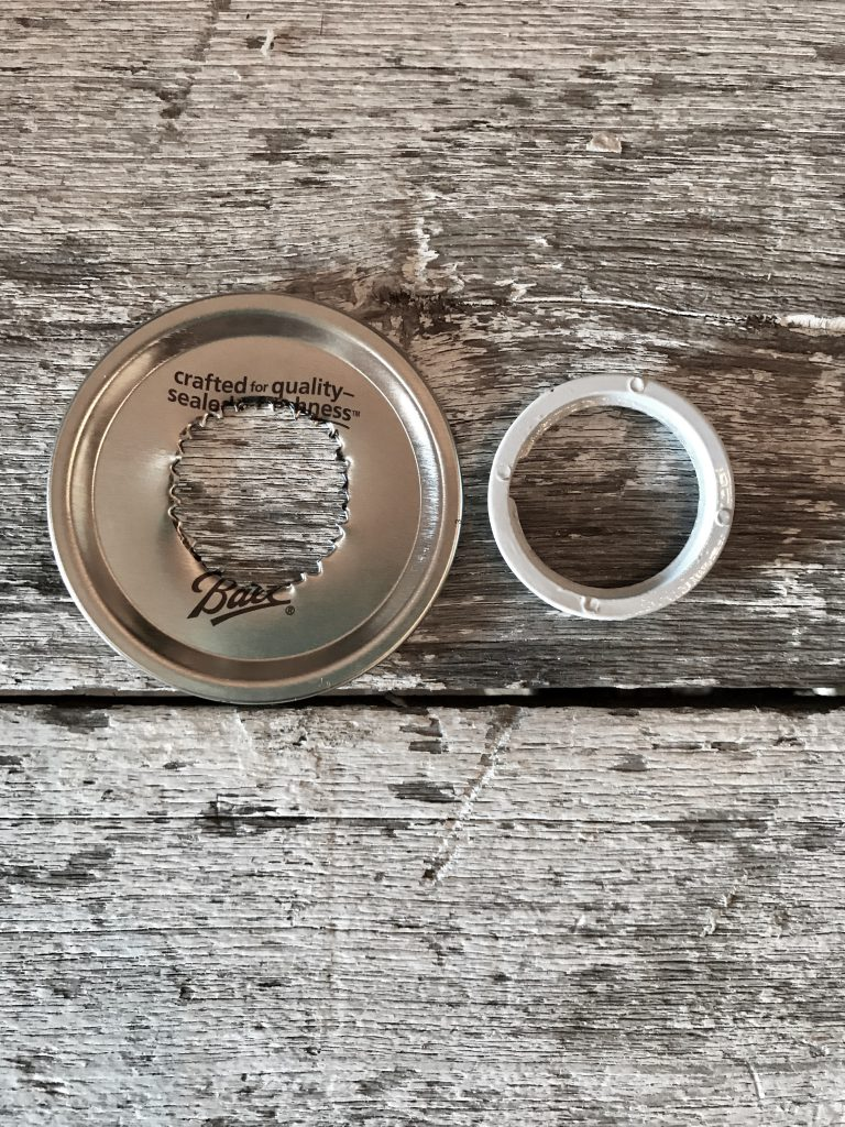 mason jar top with hole for shade ring