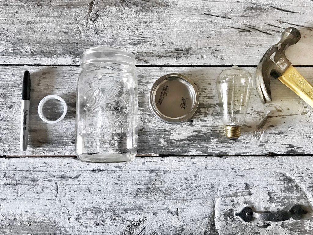 mason jar light DIY materials