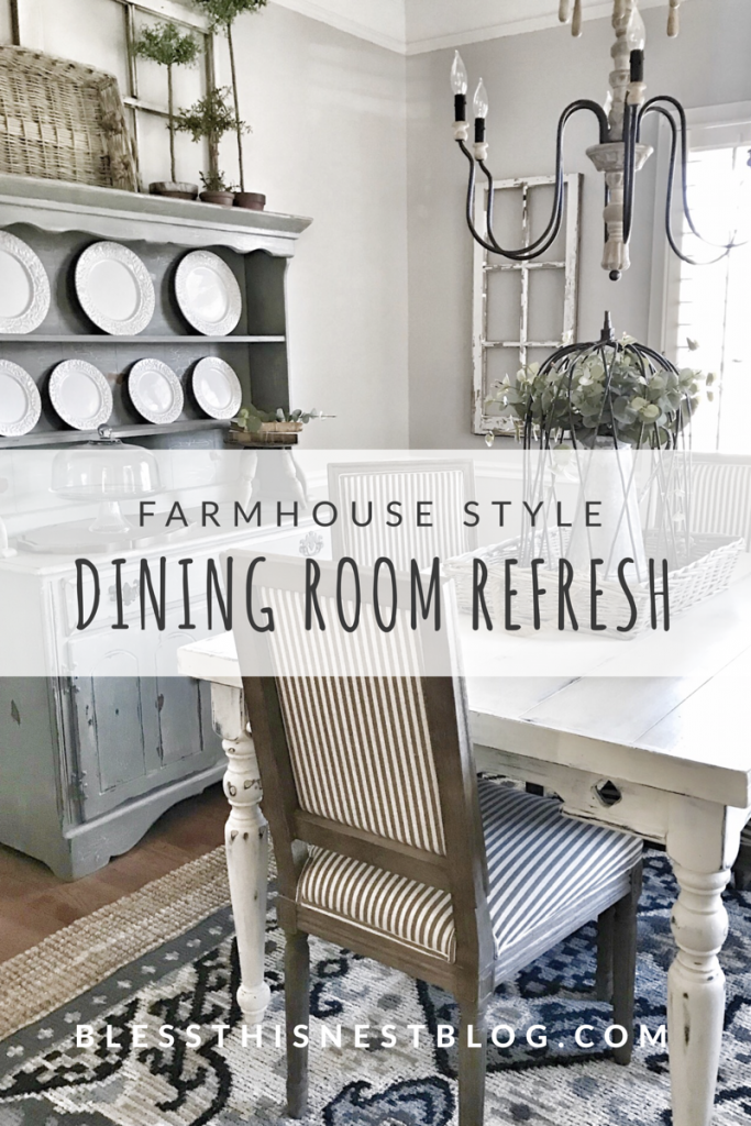 farmhouse dining room refresh