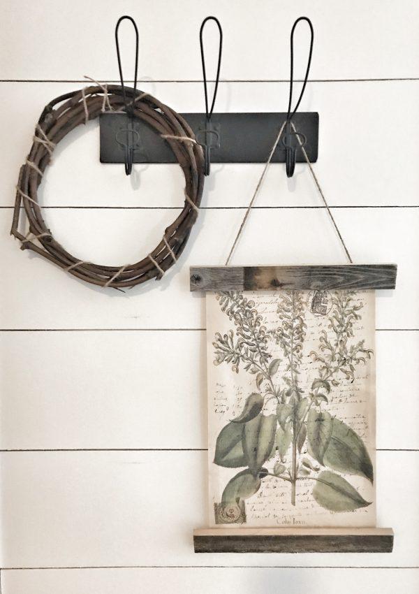 Wood Hanging Poster Frame DIY