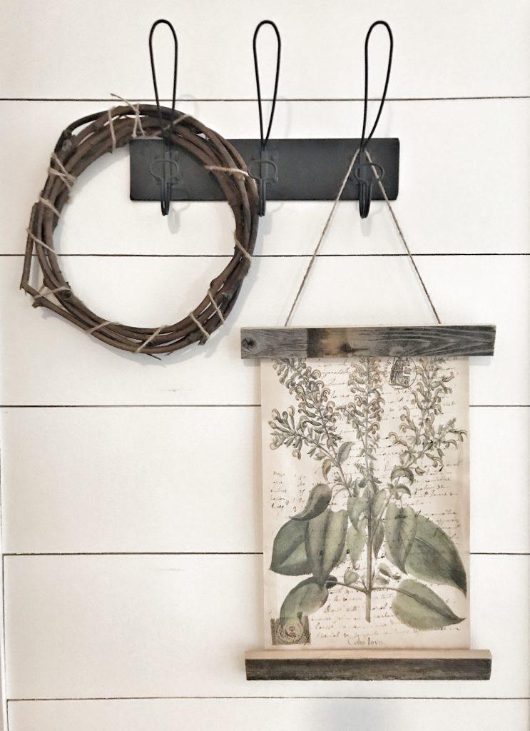 close up of wooden poster frame DIY