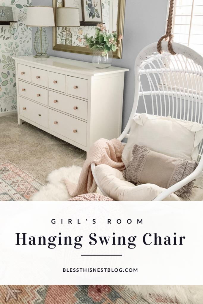 girl's room hanging swing chair blog banner