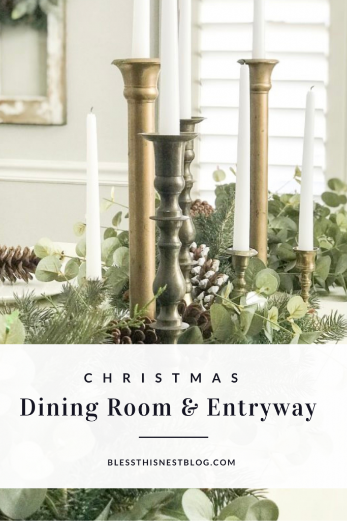 Christmas dining room and entryway